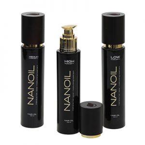 Bogate w składniki olejki do włosów Nanoil